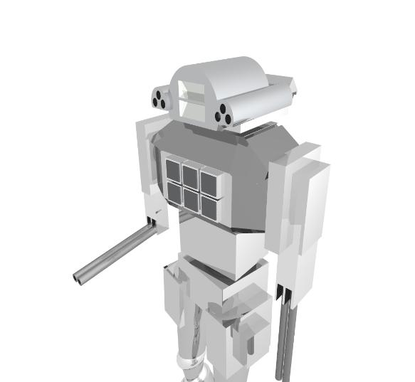 Robot - Pov-Ray model